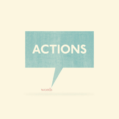 (via  Actions Speak Louder Than Words Art Print by John Tibbott | Society6 )