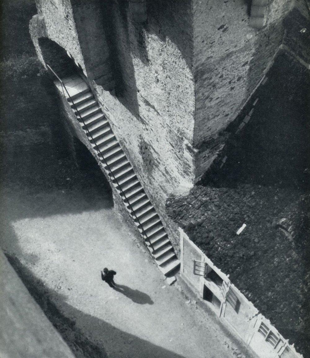 liquidnight :      Jan Lauschmann     Castle Stairs , 1927   From  Tschechoslowakische Fotografien 1900-1940