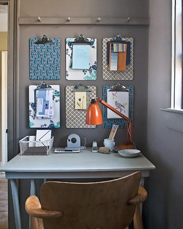 (via  Forget Bulletin Boards When You have Clipboards - Home Office Snapshots )