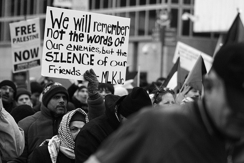 We will remember not the words of our enemies, but the silence of our friends. - MLK