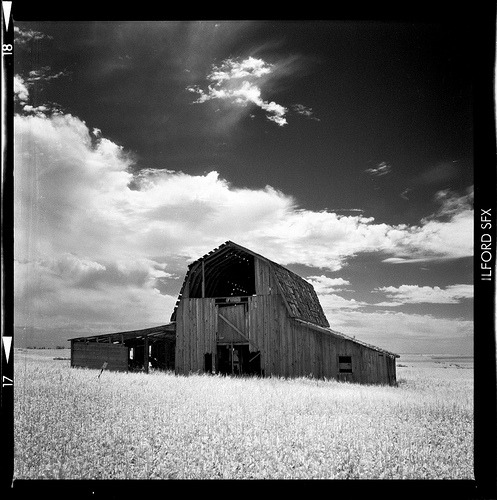 Barn in IR (by  calakmul )