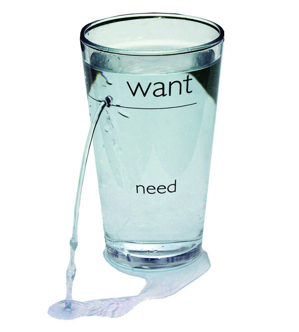 visualizing a character's wants & needs and how one leads to the other    simplifyyourlife :     The  Need/Want Glass  from  Alesina Design