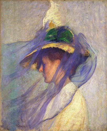 lustforthemoonlight :     edmund tarbell: the blue veil (by  freeparking )