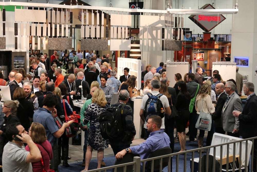 The crowds at The International Builders Show