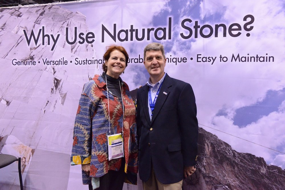 The MIA + BSI: The Natural Stone Institute booth at the International Builders Show was a great resource for us