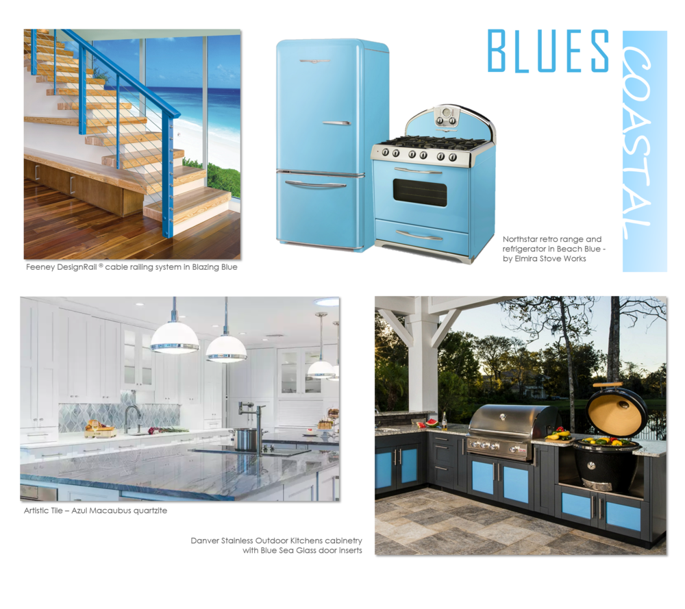 Blue is coasting in to most areas of the home this season