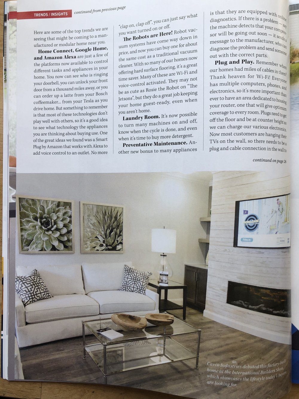 Our article in MH Insider identifies the builder, event that the home was part of, and the photographer was credited on the front page.