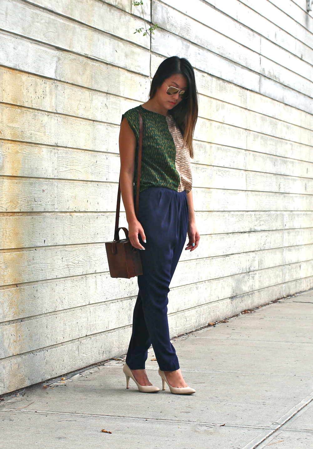 colorblock_print_top_pleated_pants_vintage_bag1.JPG