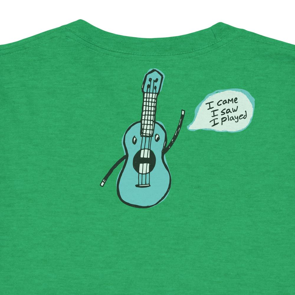 Back of T-shirt: Kooky Uke's Uke Toon.