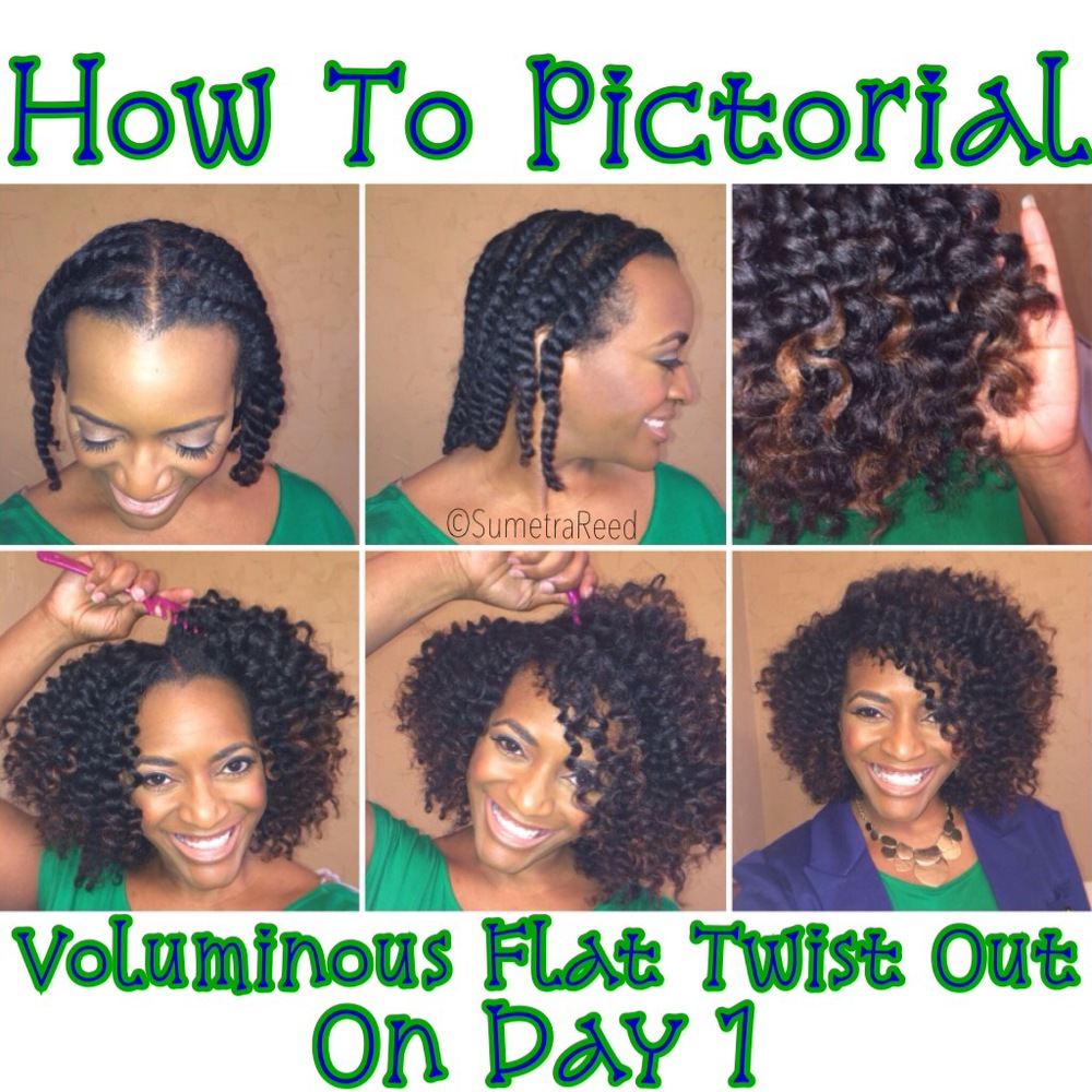 How To Achieve A Voluminous Flat Twist Out On Day 1 I Am