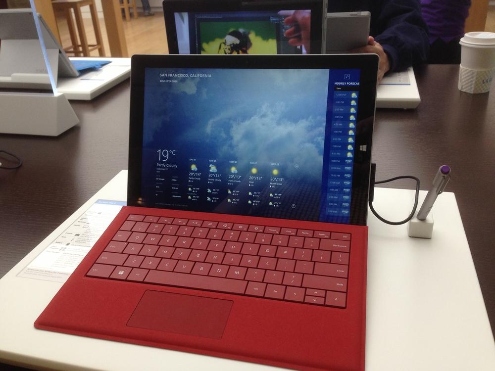 Surface Computer at Microsoft Store, July 2014, San Francisco