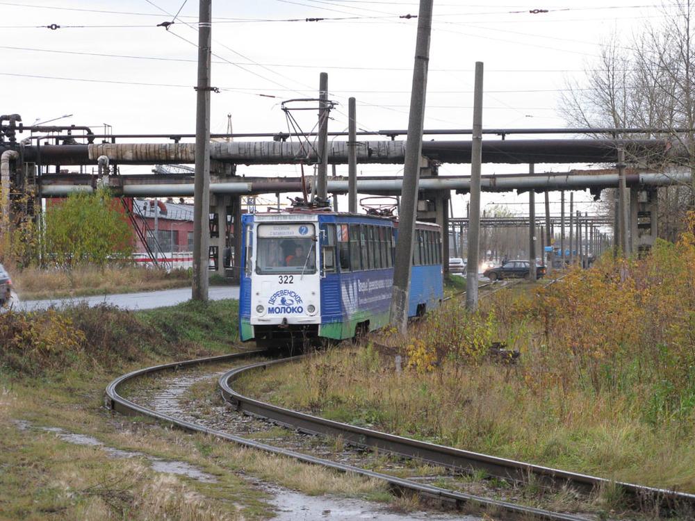 De industriewijk Osentsy en Tram 2 in het vroege najaar. Duidelijk veel minder zen:
