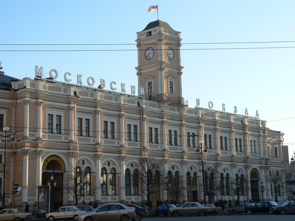 Het Moskou Station in Sint-Petersburg