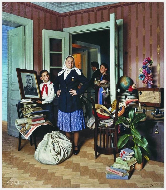 A. Laktionov - Verhuizing naar een nieuwe woning (1952)