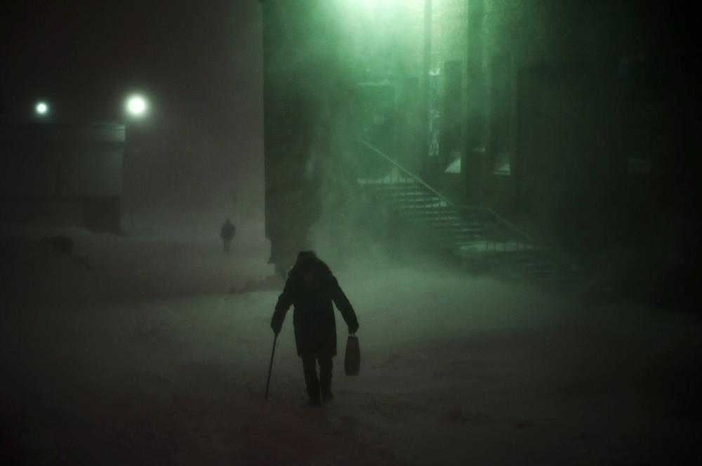 De gemiddelde wintertemperatuur is -30 graden. Op gemiddeld 130 dagen woedt een sneeuwstorm.