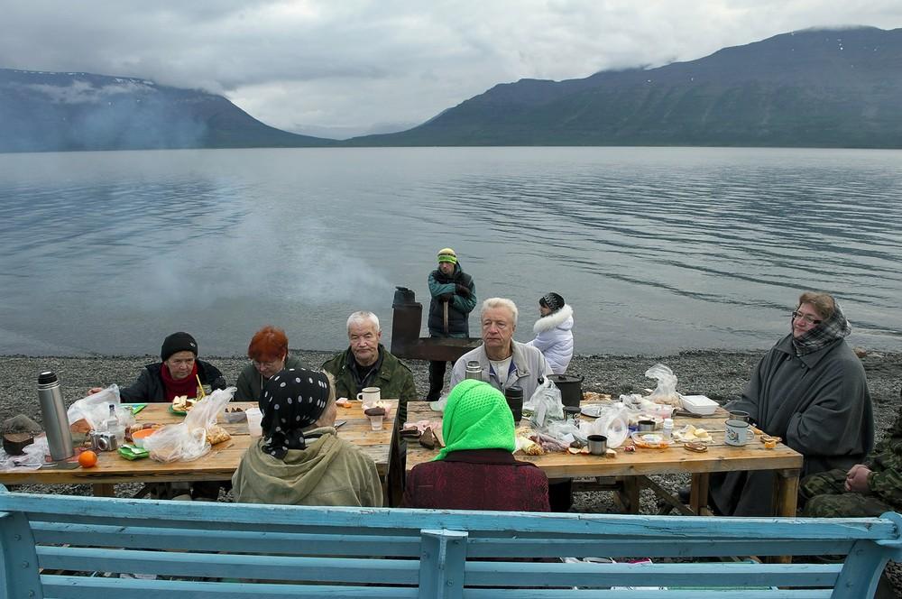 Aan het Lama meer, 30 km buiten Norilsk.