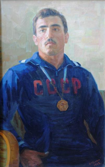 V. Gortsjakov - Portret van A. Alijev (1962) (6)