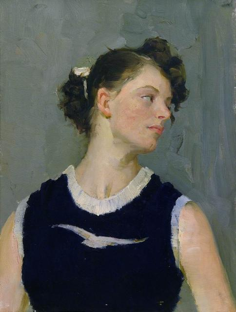 V. Nepostajev - Portret van sportvrouw S.Ptsjolkina (1957-1958) (3)