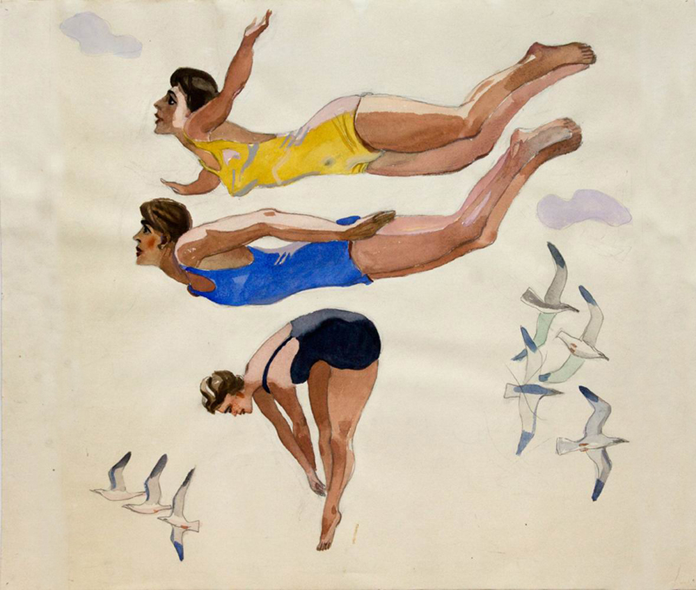 A. Denejka - Sprongen in het water (1937) (3)