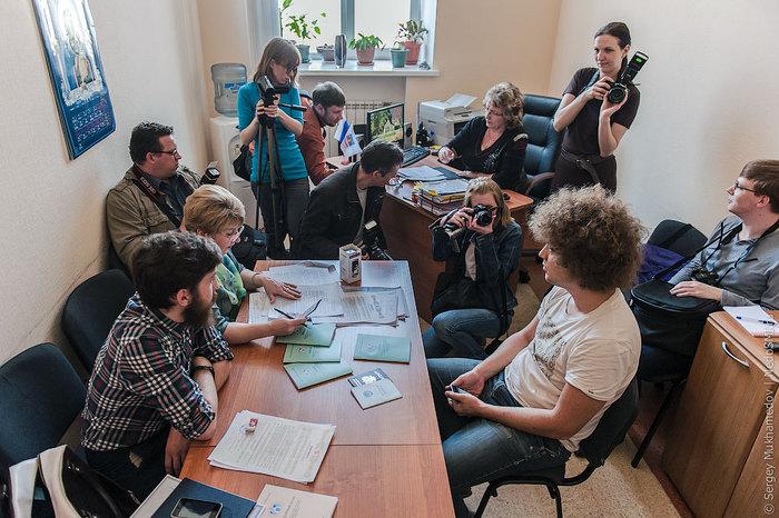 De registratie van kandidaat Varlamov in Omsk