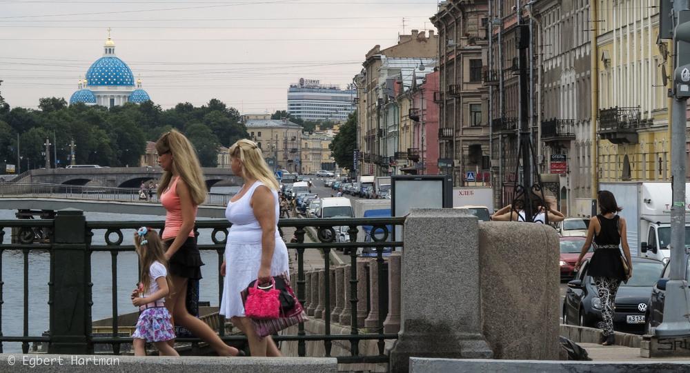 Fontanka brug Sint-Petersburg