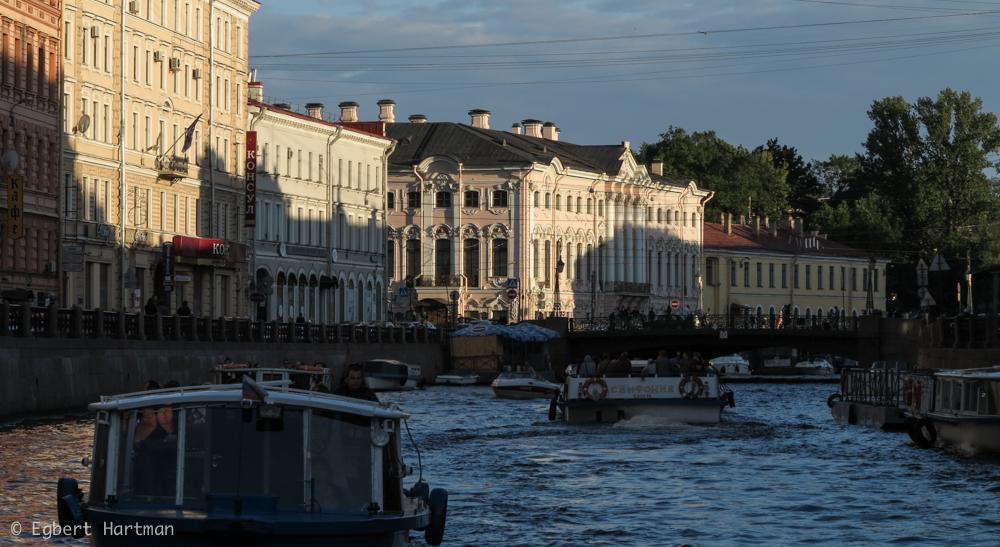 rondvaart in Sint-Petersburg Mojka Neva zomer