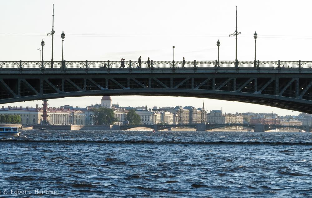 rondvaart in Sint-Petersburg, zomer Neva