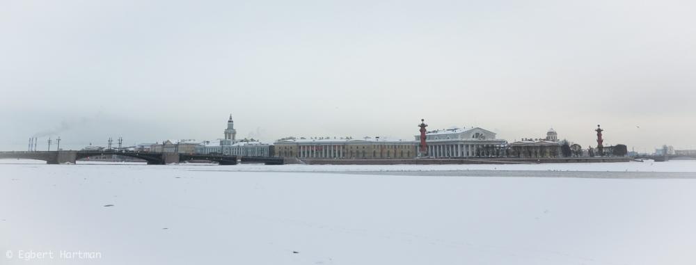 Beurs, Strelka Sint-Petersburg ijs Neva winter