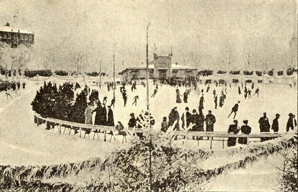 Moskou kunstschaatsen schaatsbaan