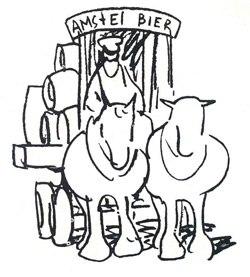 Amstel Bier reclame paard en wagen Rusland Kokorin