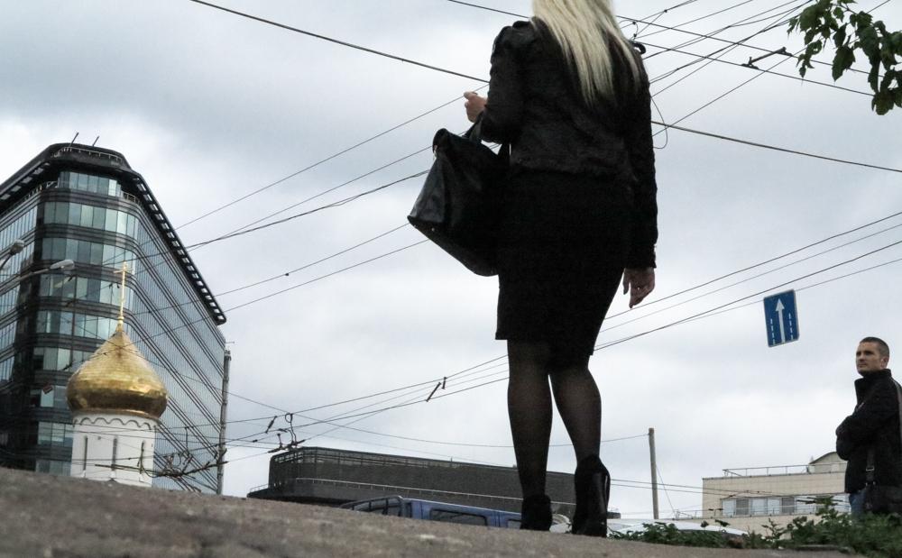 blonde vrouw Russin Russisch