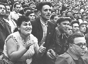 voetbalrellen 1957 Leningrad FC Zenit Moskou Torpedo Kirov Stadion