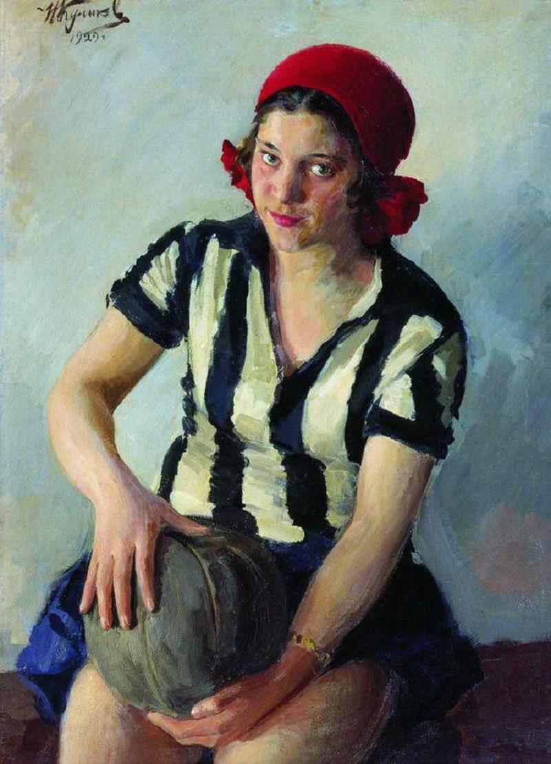 Koelikov Russich meisje sport schilderij
