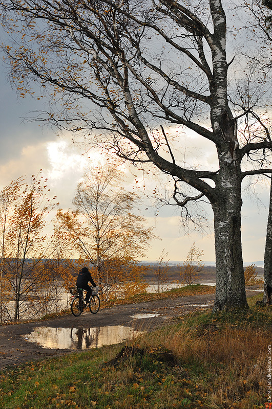 fiets Russische dorp noorden