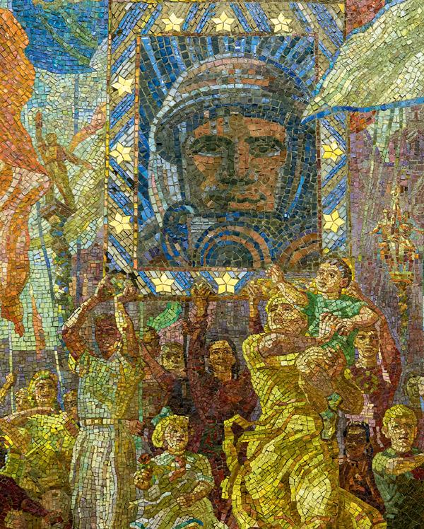 metro Dobryninskaja mozaïek Gagarin Stalin