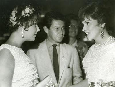 Dior Gina Lollobrigida Elizabeth Taylor Moskou Moscow 1961