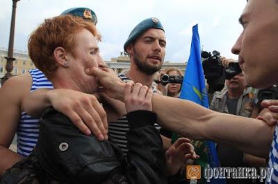 LGTB homohaat Rusland anti-homowet Sint-Petersburg