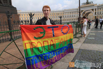 homo's gelijke rechten Rusland Sint-Petersburg