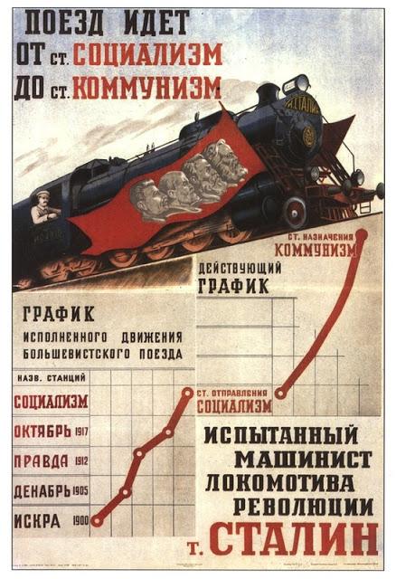 Stalin locomotief treinen spoorwegen Sovjetunie economie