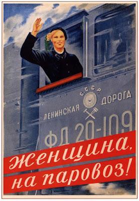 vrouwen machinist trein Rusland sovjetunie