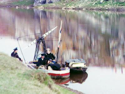 boot Prokoedin-Gorski kleurenfoto's Russische rijk