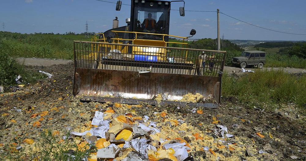 vernietiging voedsel Russische grens sancties
