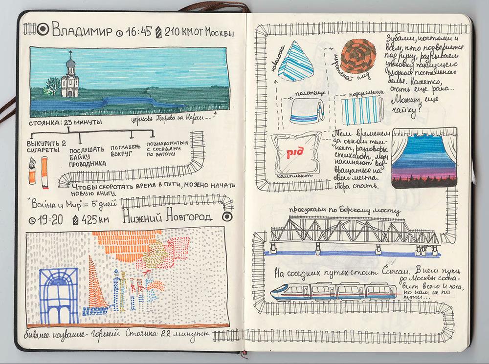 illustraties gids spoorlijn Siberië