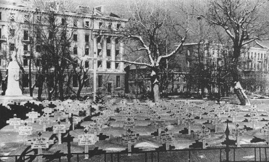 Duits kerkhof op het Koltosovplein, Voronezj