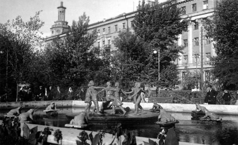 Koltsovplein, Voronezj, jaren zestig.