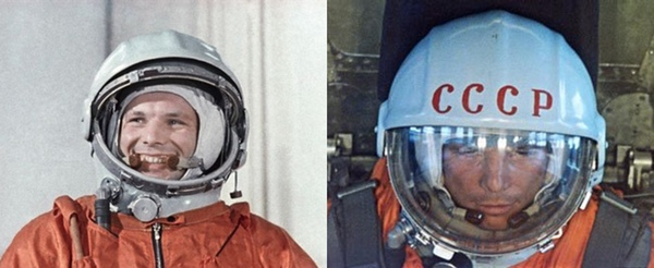 De letters CCCP werden pas op de ochtend van de vlucht op Gagarins helm geschilderd