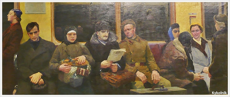 Dmitri Zjilinksi: In de metrowagon. (1957)