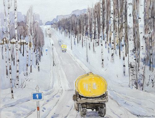 Antonina romodanovskaja: Naar Moskou. (1966)