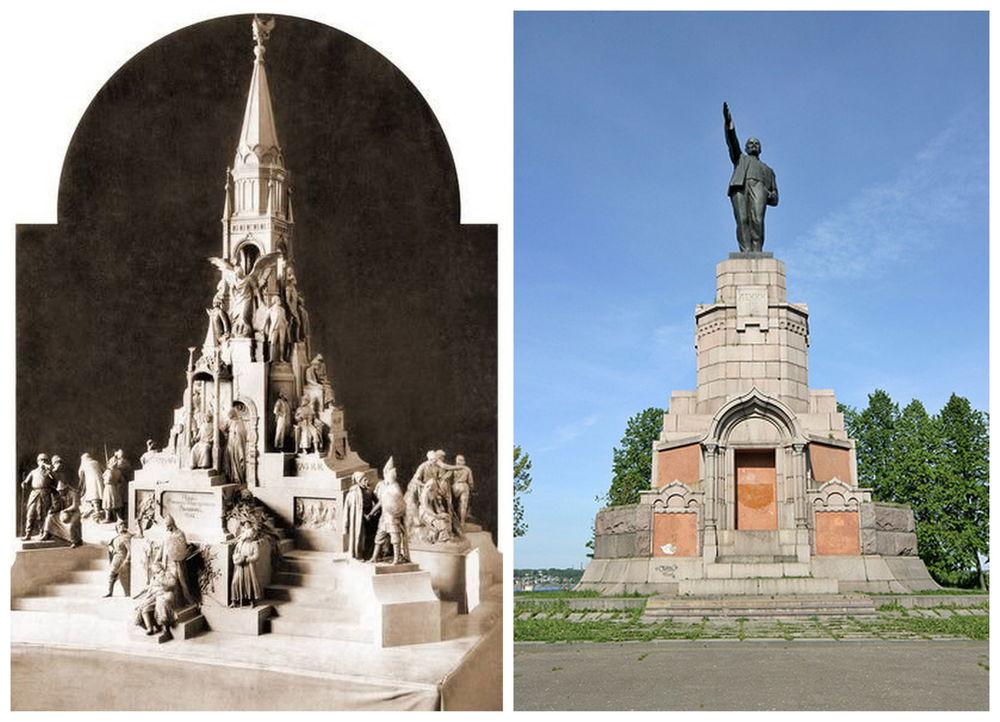 Kostroma standbeeld Lenin Romanovs