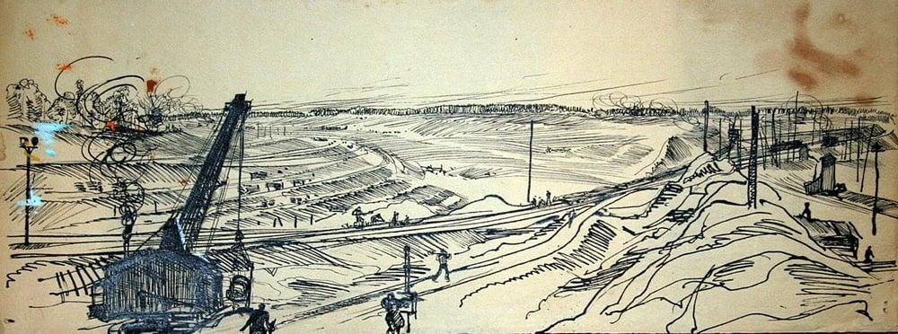Moskou Wolga kanaal aanleg tekening